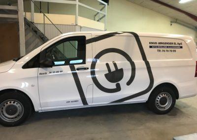 elektriker reklame på erhvervsbil