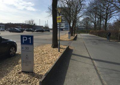 stander og pylonskilte til parkering