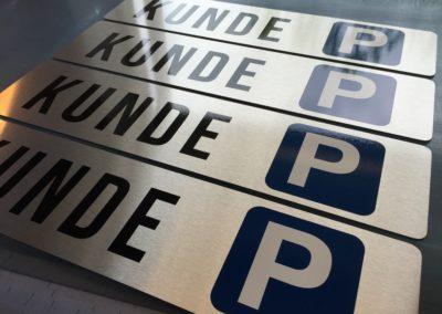 kunde parkeringskilte