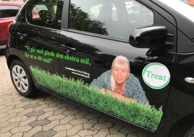 reklamer med billeder på erhvervsbil
