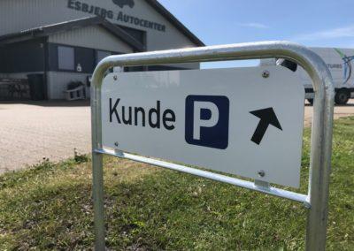 parkeringskilte til kunder