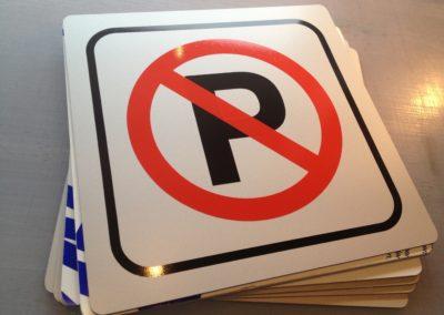 parkeringskilte klar til montering
