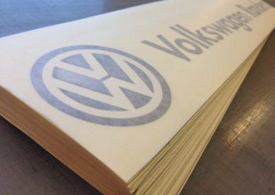 volkswagen logo til montering på bil