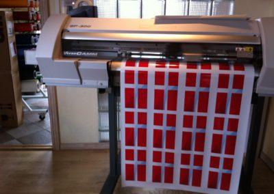 her printes flagmærker til erhverv og dekoration