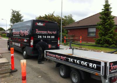 reklamer til varevogn og trailer