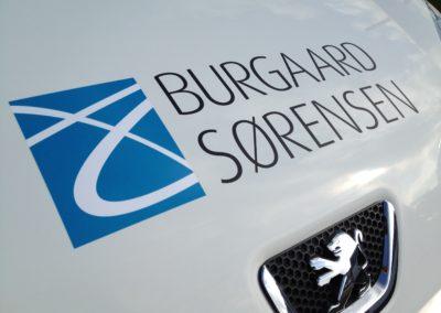 logo-mærke monteret på bil